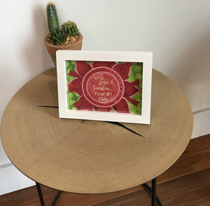 "Red, Buff, & Green ""Sister"" Collection Framed Prints"