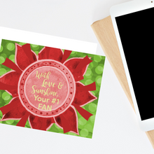 "Load image into Gallery viewer, Red, Buff, & Green ""Sister"" Collection Individual Stationery Card"