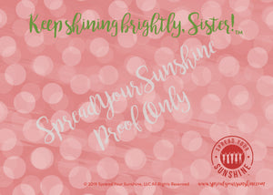 "Red, Buff, & Green ""Sister"" Collection #ShineItForward Individual Stationery Set"