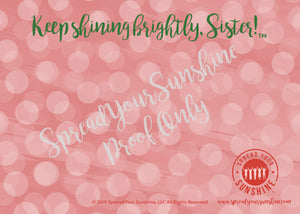 With Love & Sunshine, Your #1 FAN - Red & Olive Individual #ShineItForward Stationary Set