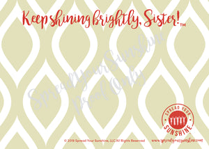 "Scarlet Red & Olive Green ""Sister"" Collection #ShineItForward 4-Pack Stationery Set"