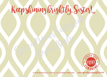 "Load image into Gallery viewer, Scarlet Red & Olive Green ""Sister"" Collection #ShineItForward Individual Stationery Set"