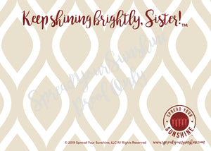 "Crimson & Pearl White ""Sister"" Collection #ShineItForward 4-Pack Stationery Set"