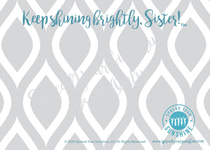 "Teal & Gray ""Sister"" Collection #ShineItForward Individual Stationery Set"