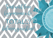 "Load image into Gallery viewer, Teal & Gray ""Sister"" Collection #ShineItForward Individual Stationery Set"