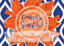 "Load image into Gallery viewer, Blue & Orange ""Sunshine"" Collection #ShineItForward 4-Pack Stationery Set"