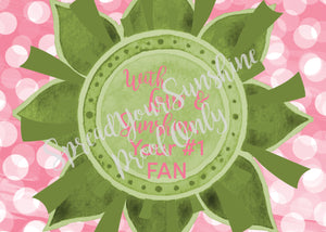 "Rose Pink & Green ""Sister"" Collection #ShineItForward Individual Stationery Set"