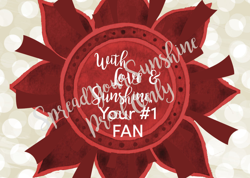 With Love & Sunshine, Your #1 FAN - Crimson, Pearl & Palm Green Individual #ShineItForward Stationary Set
