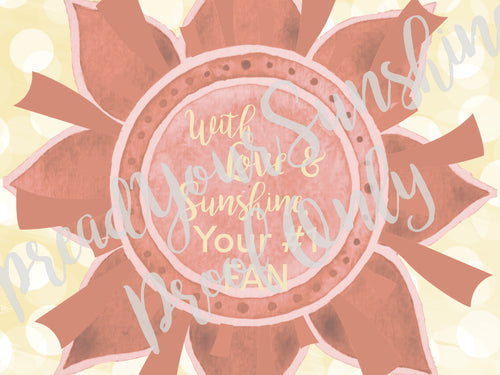 Post-it Notes- Design 4- With Love & Sunshine, Your #1 FAN