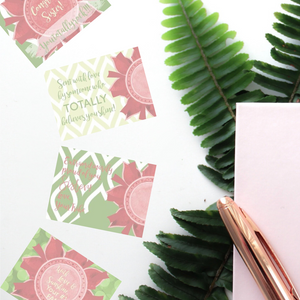 "Red, Buff & Green ""Sister"" Collection Post-it Notes"