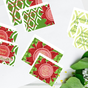 "Red, Buff, & Green ""Sister"" Collection #ShineItForward 4-Pack Stationery Set"
