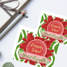 "Load image into Gallery viewer, Red, Buff, & Green ""Sister"" Collection #ShineItForward Individual Stationery Set"