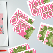 "Load image into Gallery viewer, Rose Pink & Green ""Sister"" Collection #ShineItForward 4-Pack Stationery Set"