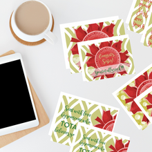 "Load image into Gallery viewer, Scarlet Red & Olive Green ""Sister"" Collection #ShineItForward 4-Pack Stationery Set"
