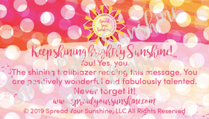 "Classic ""Sunshine"" Collection Positivity Cards"