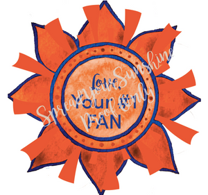 "Blue & Orange ""Sunshine"" Collection Envelope Seals"