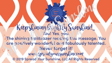 "Load image into Gallery viewer, Blue & Orange ""Sunshine"" Collection Positivity Cards"