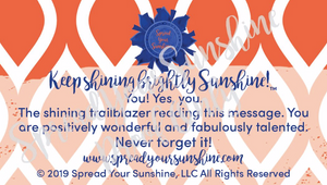 "Blue & Orange ""Sunshine"" Collection Positivity Cards"
