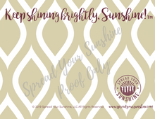 "Load image into Gallery viewer, Garnet & Gold ""Sunshine"" Collection #ShineItForward Individual Stationery Set"