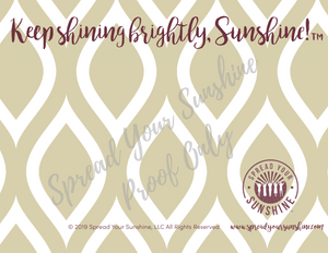 "Garnet & Gold ""Sunshine"" Collection #ShineItForward Individual Stationery Set"