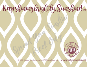 "Garnet & Gold ""Sunshine"" Collection #ShineItForward 4-Pack Stationery Set"