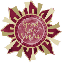 "Load image into Gallery viewer, Garnet & Gold ""Sunshine"" Collection Envelope Seals"