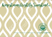 "Load image into Gallery viewer, Green & Gold ""Sunshine"" Collection #ShineItForward Individual Stationery Set"