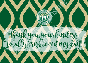 "Green & Gold ""Sunshine"" Collection Positivity Cards"