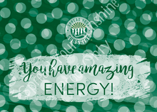 "Load image into Gallery viewer, Green & Gold ""Sunshine"" Collection Positivity Cards"