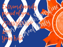 "Load image into Gallery viewer, Blue & Orange ""Sunshine"" Collection Traditional Stationery Set"