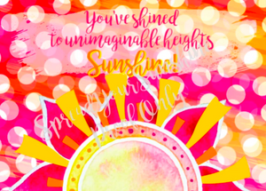 "Classic ""Sunshine"" Collection Individual Stationery Card"