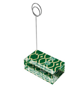 "Green & Gold ""Sunshine"" Collection Tall Card Holders"