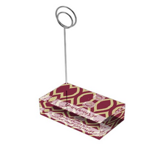 "Garnet & Gold ""Sunshine"" Collection Tall Card Holders"