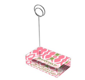 "Rose Pink & Green ""Sister"" Collection Tall Card Holders"