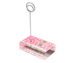 "Load image into Gallery viewer, Rose Pink & Green ""Sister"" Collection Tall Card Holders"