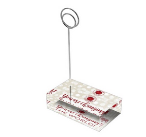 "Crimson & Pearl White ""Sister"" Collection Tall Card Holders"