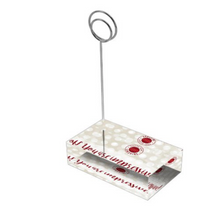 "Load image into Gallery viewer, Crimson & Pearl White ""Sister"" Collection Tall Card Holders"