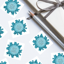 "Load image into Gallery viewer, Teal & Gray ""Sister"" Collection Envelope Seals"