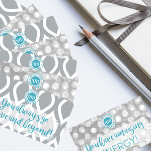 "Teal & Gray ""Sister"" Collection Positivity Cards"