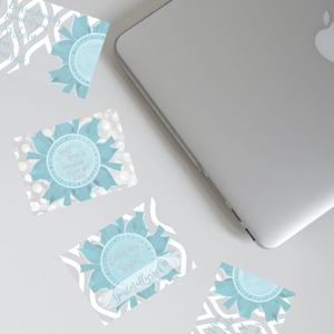 "Teal & Gray ""Sister"" Collection Post-it Notes"