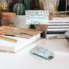 "Load image into Gallery viewer, Teal & Gray ""Sister"" Collection Tall Card Holders"