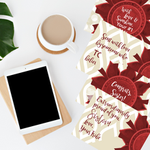 "Load image into Gallery viewer, Crimson & Pearl White ""Sister"" Collection Traditional Stationery Set"