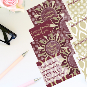 "Garnet & Gold ""Sunshine"" Collection Traditional Stationery Set"