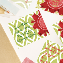"Load image into Gallery viewer, Scarlet Red & Olive Green ""Sister"" Collection Traditional Stationery Set"