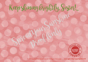 "Red, Buff, & Green ""Sister"" Collection Individual Stationery Card"