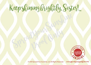 "Red, Buff, & Green ""Sister"" Collection #ShineItForward 8-Pack Stationery Set"