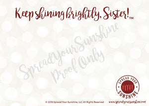 "Crimson & Pearl White ""Sister"" Collection Traditional Stationery Set"