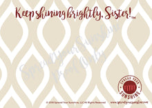 "Load image into Gallery viewer, Crimson & Pearl White ""Sister"" Collection #ShineItForward 8-Pack Stationery Set"