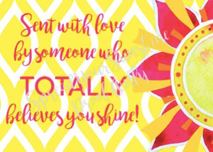 "Classic ""Sunshine"" Collection I #ShineItForward 8-Pack Stationery Set"