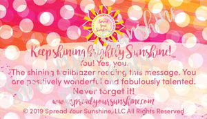 "Classic ""Sunshine"" Collection I #ShineitForward 4-Pack Stationery Set"